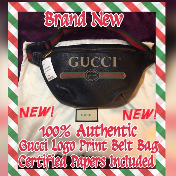 cc777cba0d6a Gucci Bags | Brand New Logo Print Belt | Poshmark